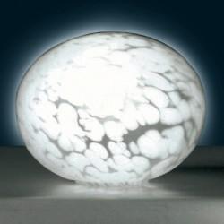 Oval bordlampe melange