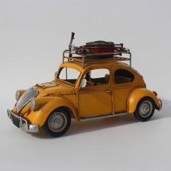 Modelbil, gul folkevogn