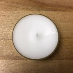 Lisette Lys, Hvid stor fyrfadslys i plastkop - 4 stk