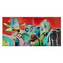 """Popfuglen Lady Gak Gak"", Litografi af Michael Bundesen"