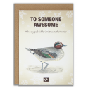 TO SOMEONE AWESOME - Julekort fra Message Earth