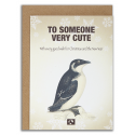 TO SOMEONE VERY CUTE - Julekort fra Message Earth