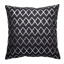 Cotton Cushion - HARLEQUIN - BLUE/SILVER