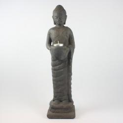 Stående buddha i sten